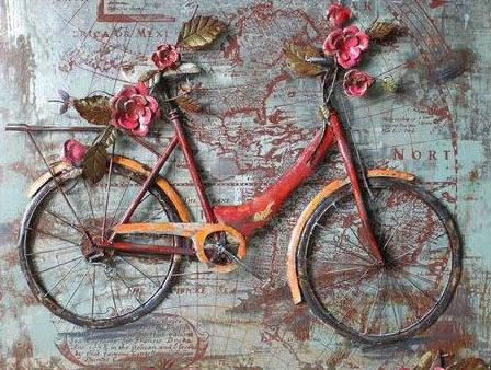 art metal bicyclette