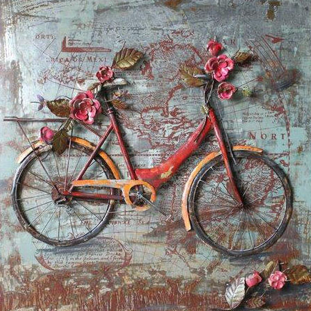 art metal bicyclette