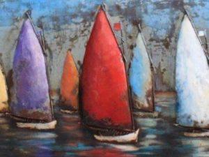 art métal bateaux à voiles