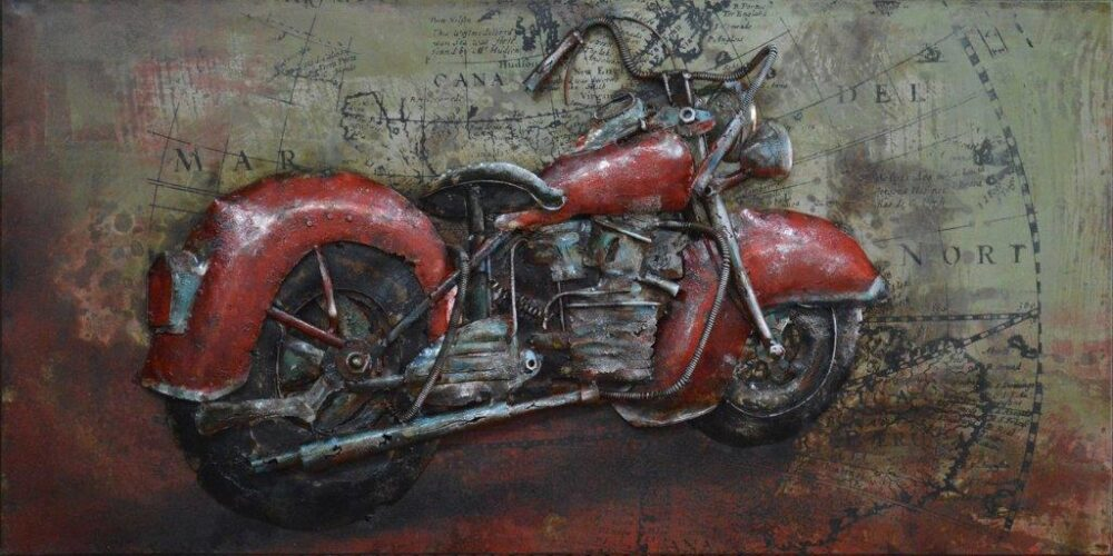 art metal moto rouge