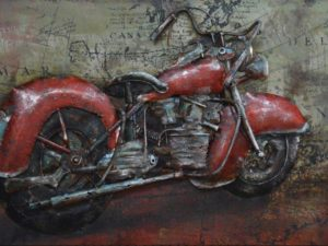art metal moto rouge