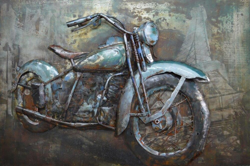 Art métal vintage mortorcycle