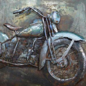 Art métal vintage mortorcycle