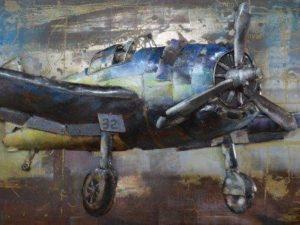 art metal avion de chasse