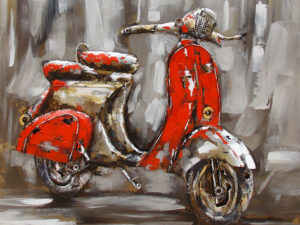 Art metal Vespa