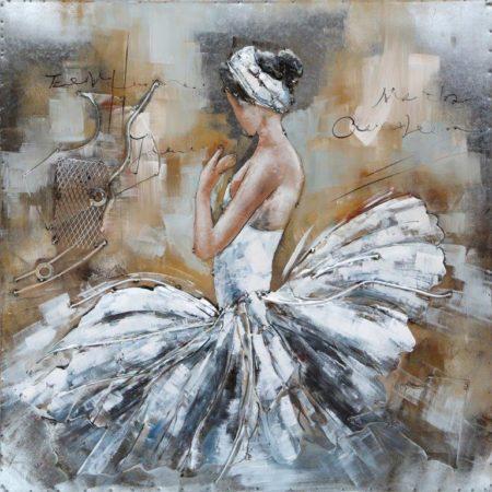Art metal White Balerina