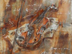 art métal violon