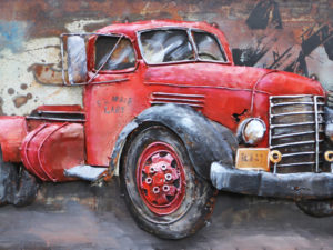Art metal Camion Rouge