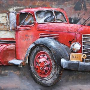 Art metal Camion Rouge