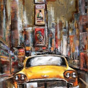 art metal taxi new yorkais