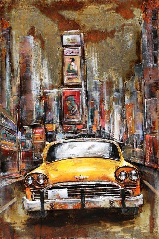 art metal taxi new yorkais