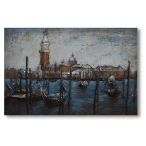 Tableau Art métal Venise