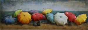 Tableau Art Métal Parasols