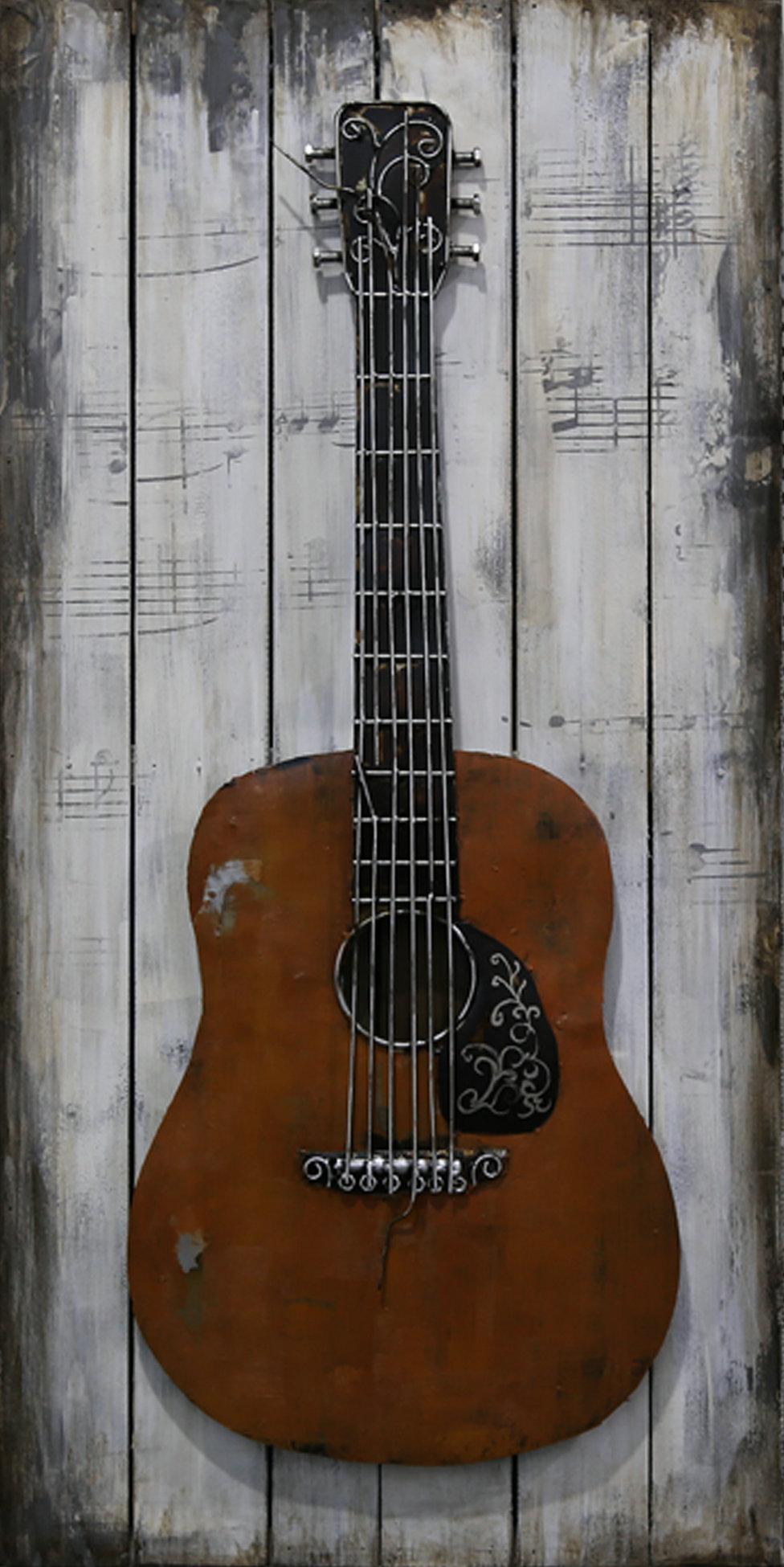 Deco Murale Métal Guitare Cadres Concept