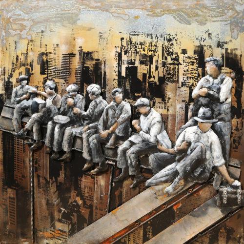 Les ouvriers sur les toits
