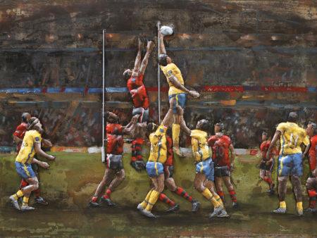 Tableau Métal Rugby