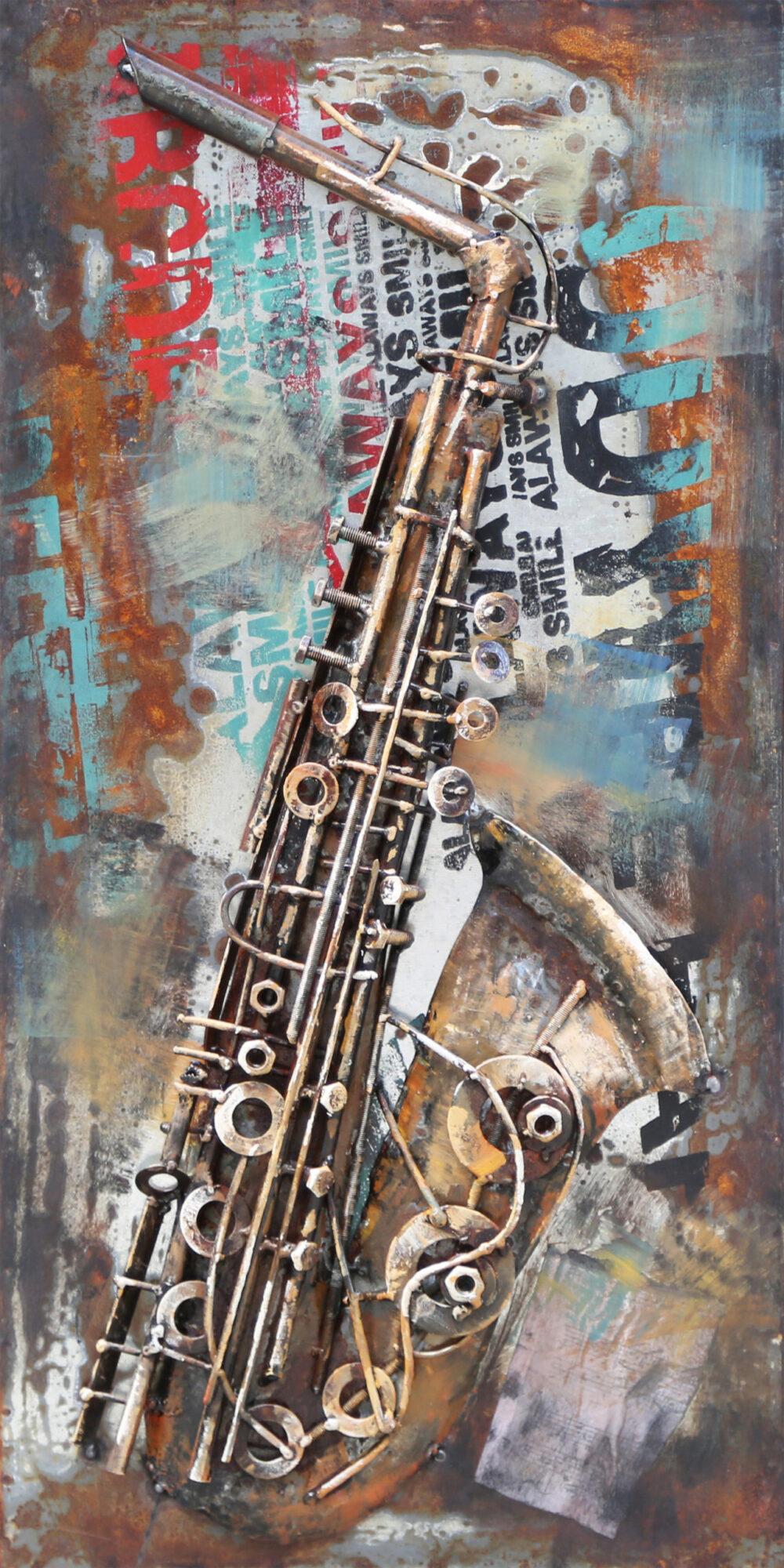 Tableau Métal Saxophone