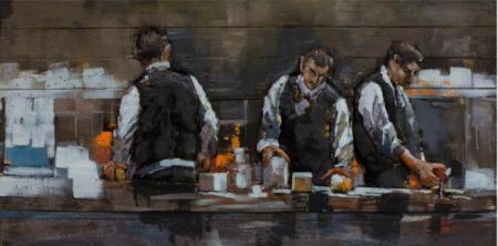 Tableau Art Métal et Bois relief Barmen