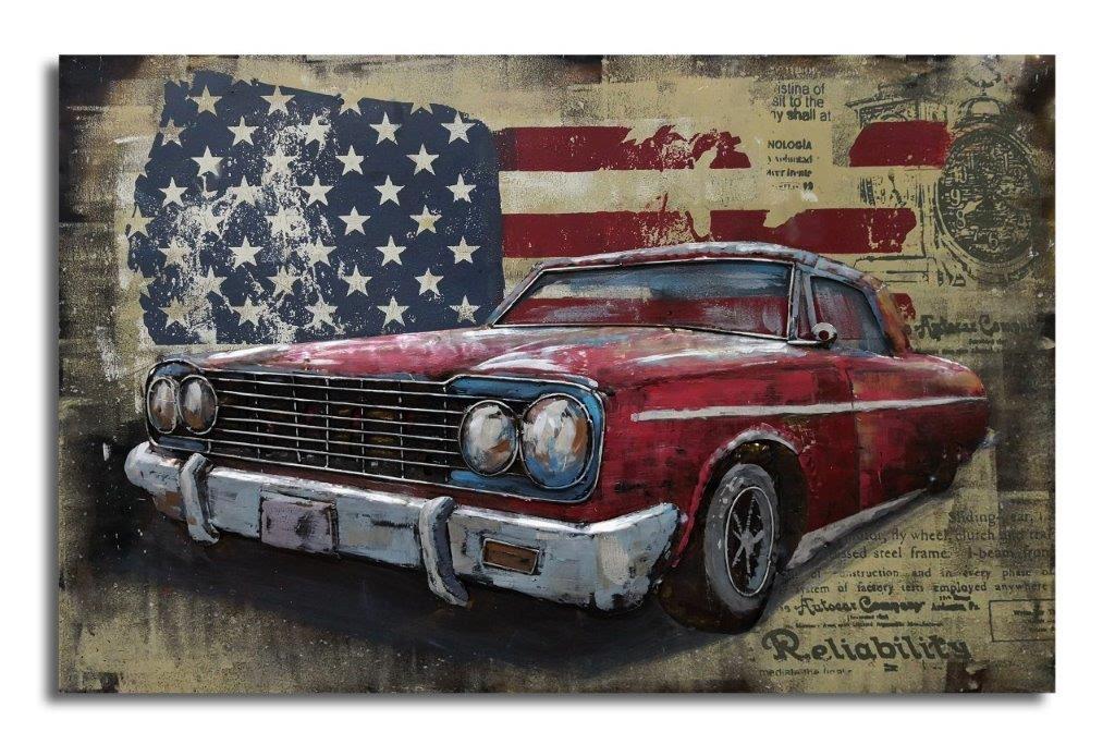 Tableau moderne voiture américaine