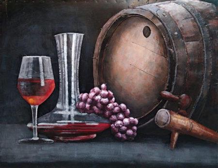 Tableau vin rouge pour deco cuisine
