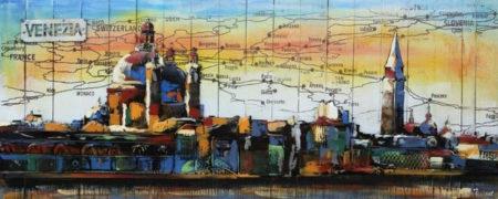 Tableau Venise pour deco salon