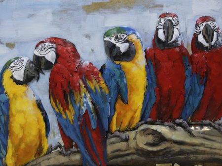 Tableau animaux perroquets pour deco