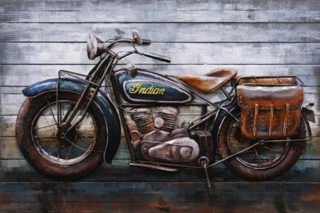 Tableau moto vintage original pour cadeau